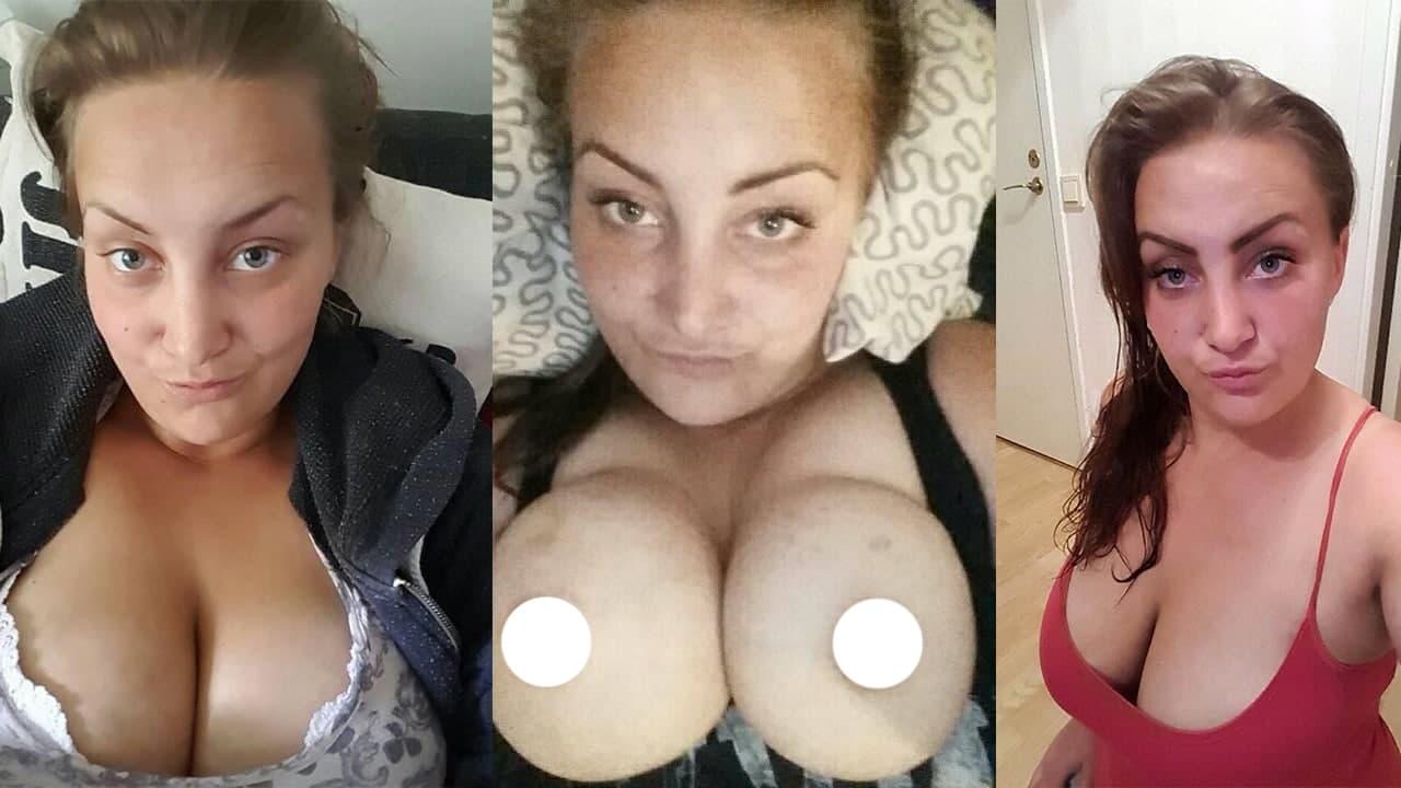 Swedish Brunette Busty Girlfriend Amatuer