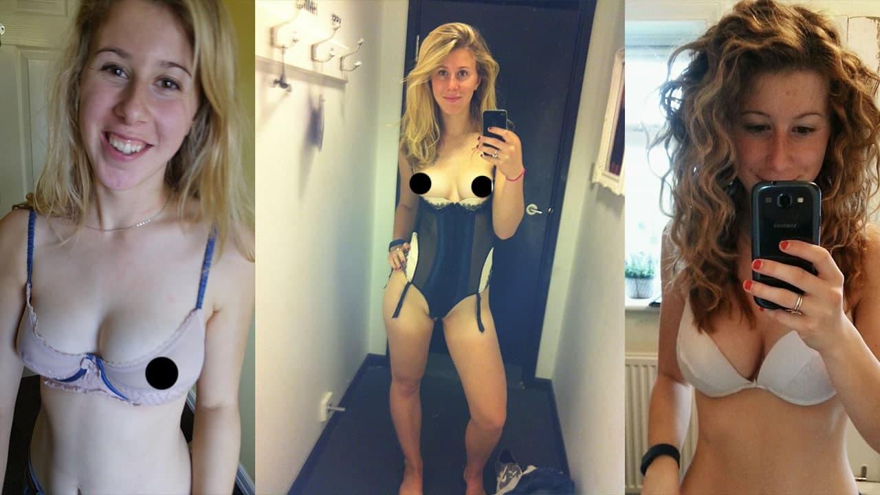 UK Blonde Selfie Stick Girl Amatuer